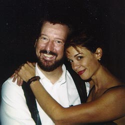 Chase Masterson with TrekTrak Director Eric L. Watts, 1997